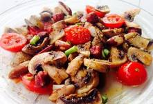 mushrooms with Brazil nuts
